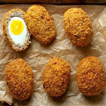 Готовые яйца по-шотландски