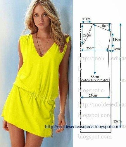Простые схемы и выкройки платьев