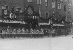 Великий князь Николай Николаевич со свитой на праздновании 100-летия Кульмского боя.