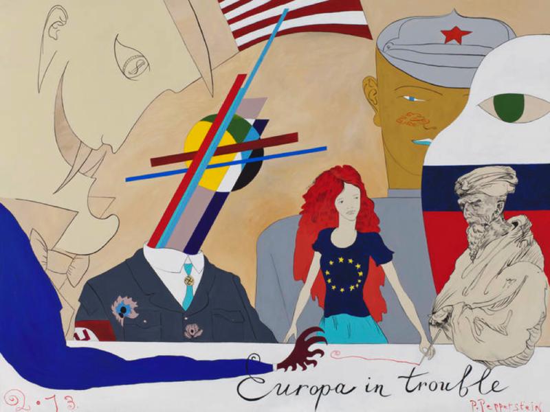 Художник Павел Пепперштейн – «Europа in trouble», 2013