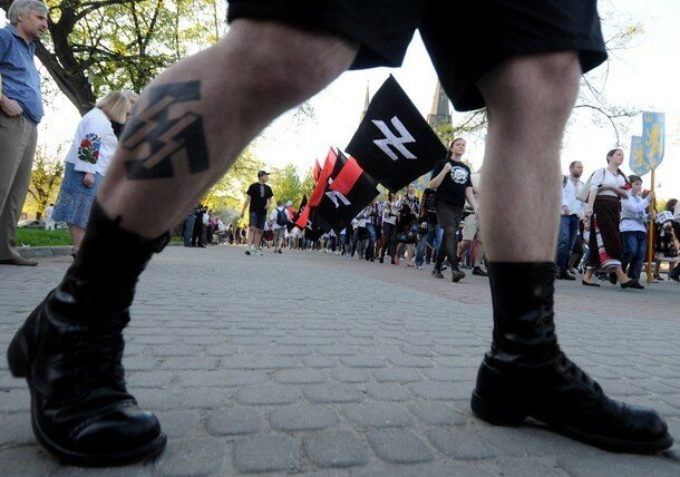 Supporters of the Ukrainian nationalist