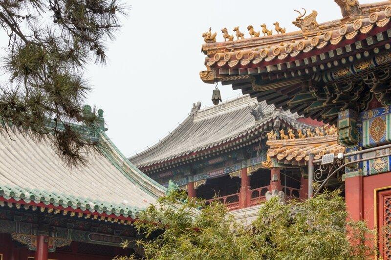 Крыши монастыря Юнхэгун, Пекин