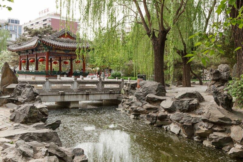 Павильон и мост, парк Дагуаньюань, Пекин