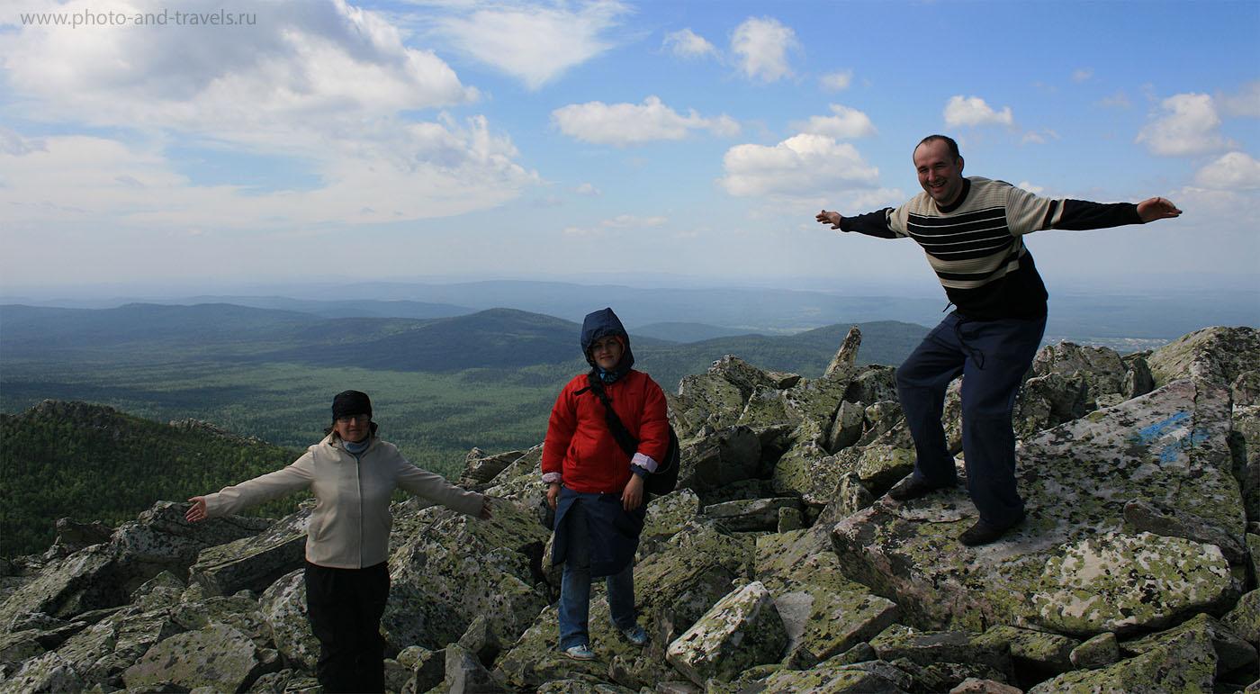 14. Таганай. Златоуст. Национальный парк. На вершине горы Круглица можно встретить орлов.
