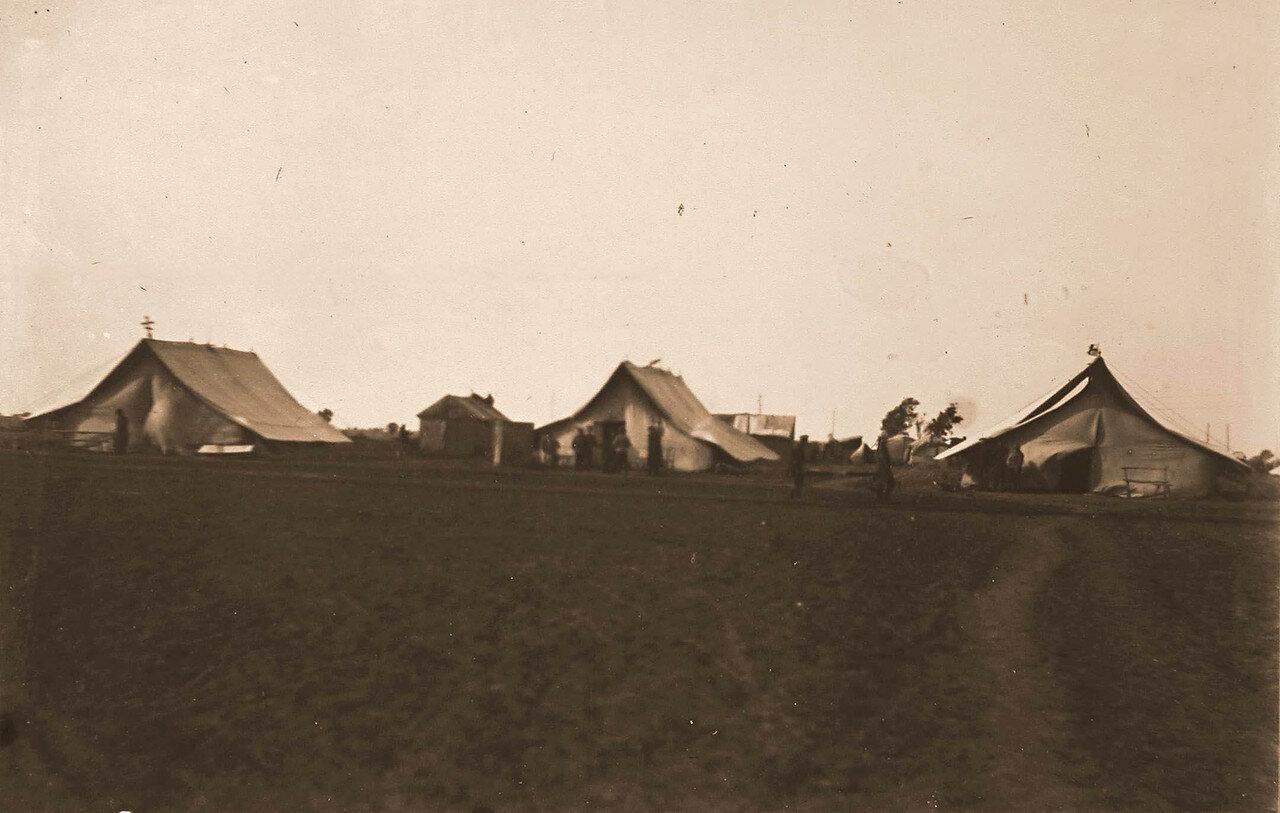 05. Вид палаток, в которых размещался военный лазарет