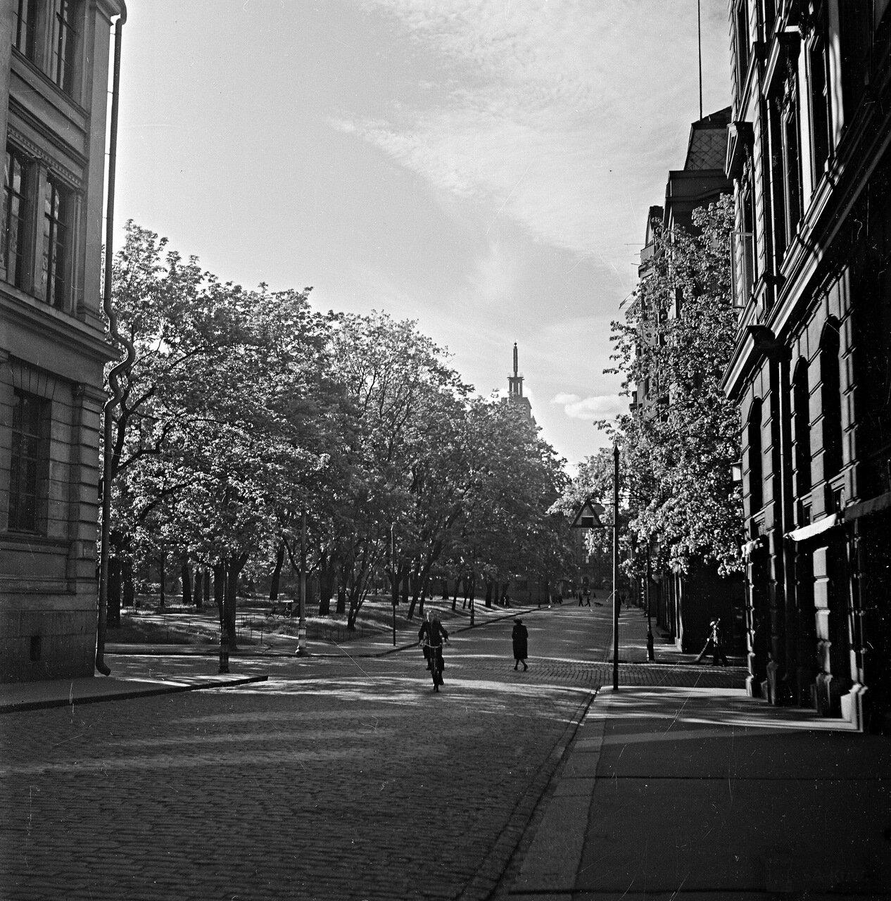 1941. 20 июня. Вид на старую церковь с улицы Ирйонкату.