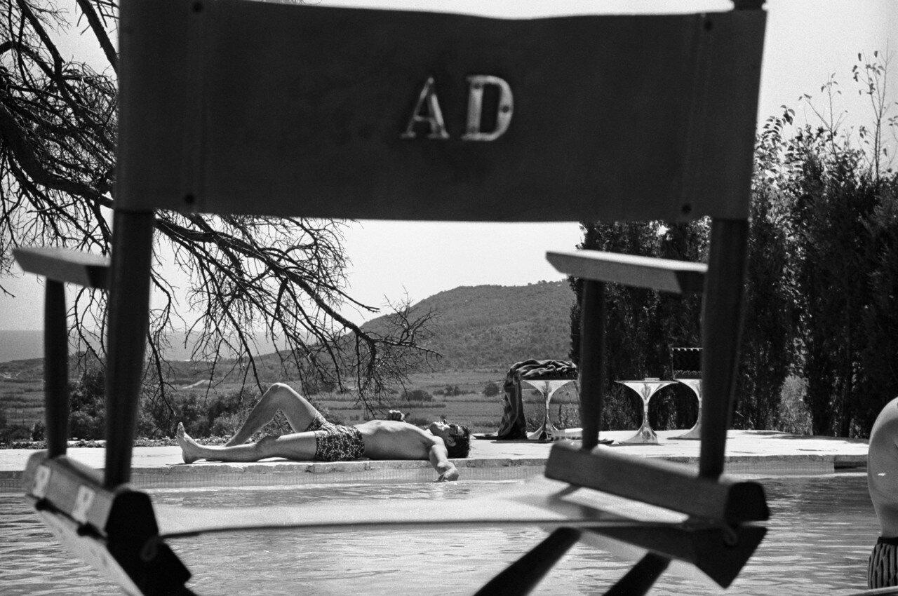 1968. На съемках фильма «Бассейн»