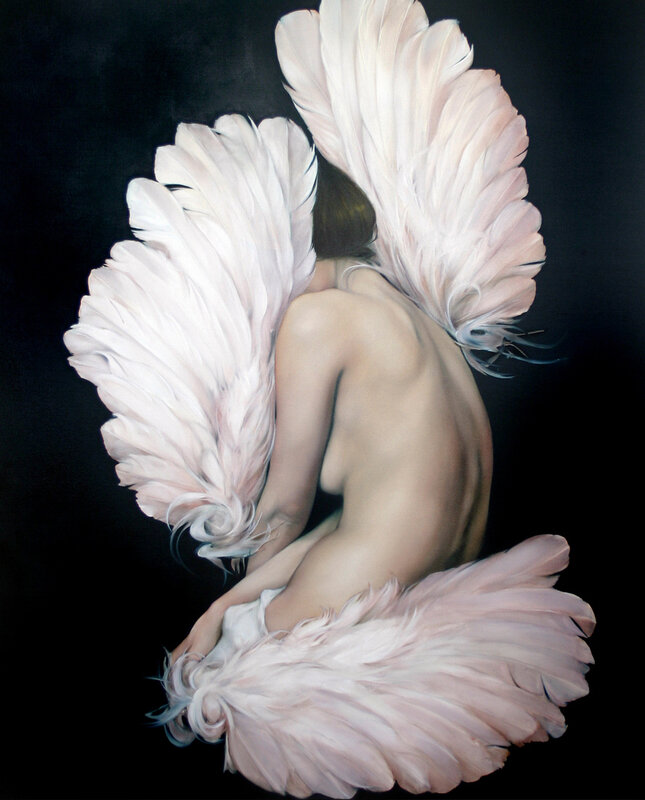 "Британская художница Amy Judd. ""Муза"", холст, масло, 127 x 102 см"