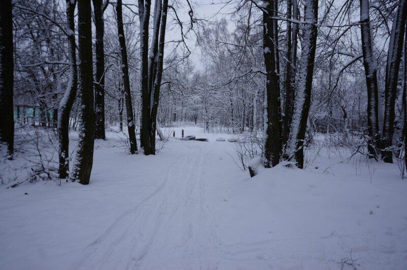 Лыжная трасса на Волкуше