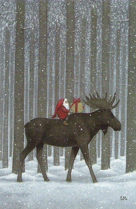 новогодние открытки с лосями изумрудные холмы официальный