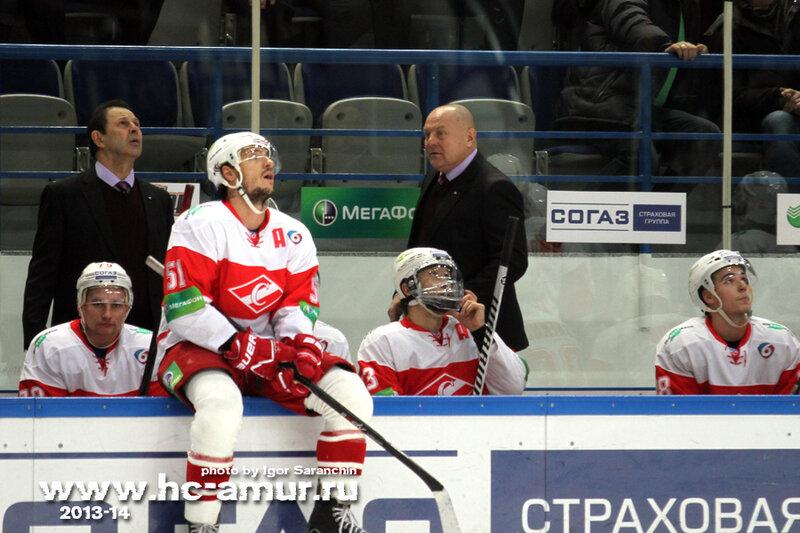 «Амур» vs «Спартак» 4:3 Б чемпионат КХЛ 2013-2014 (Фото)