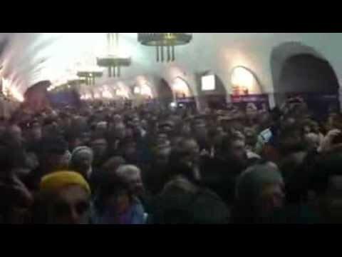 В Киеве тысячи людей спели в метро Гимн Украины