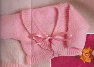 Розовые сны (болеро спицами)
