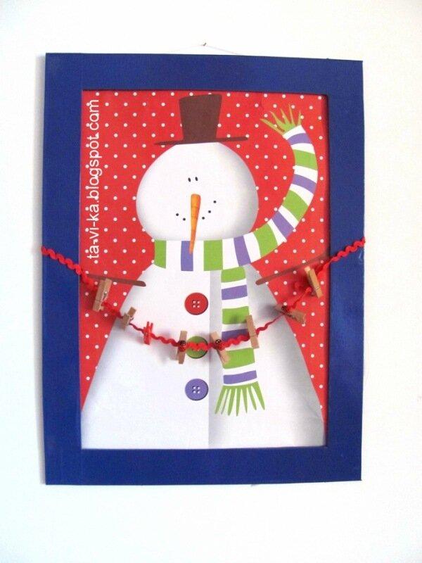 адвент-календарь со снеговиком своими руками