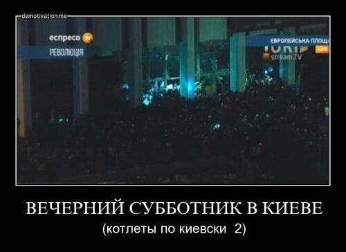 Вечерний субботник в Киеве
