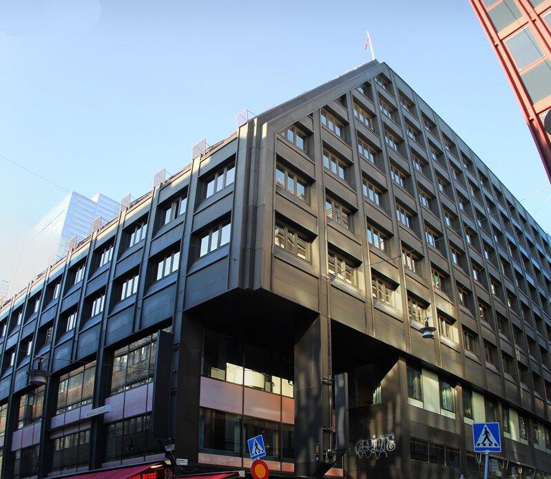 Стокгольм. Торговая улица Дроттнинггатан. Stockholm. Drottninggatan, main maket street