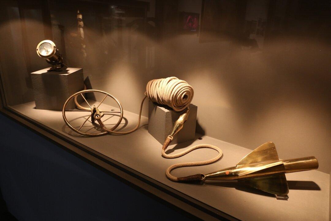 Морской музей Барселоны. Лаг - измеритель скорости.