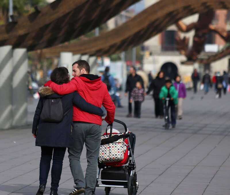 Barcelona. The promenade Moll de la Fusta.