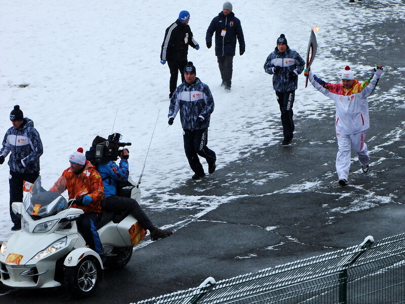 Олимпийский огонь во Владикавказе