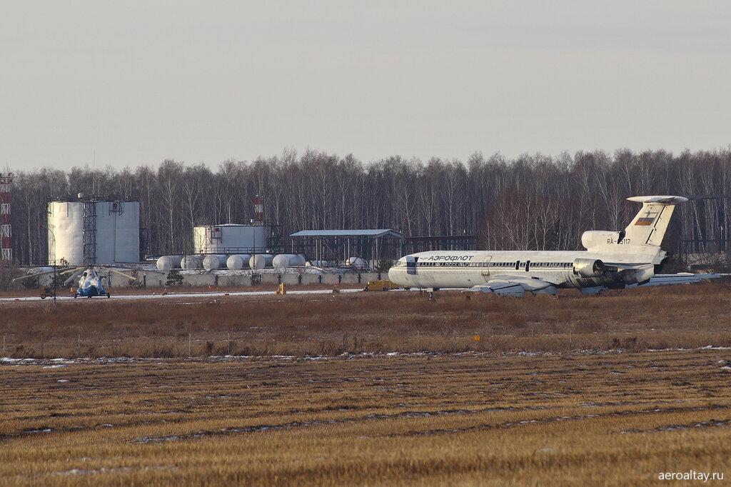 Ту-154 RA-85117 в аэропорту Барнаула