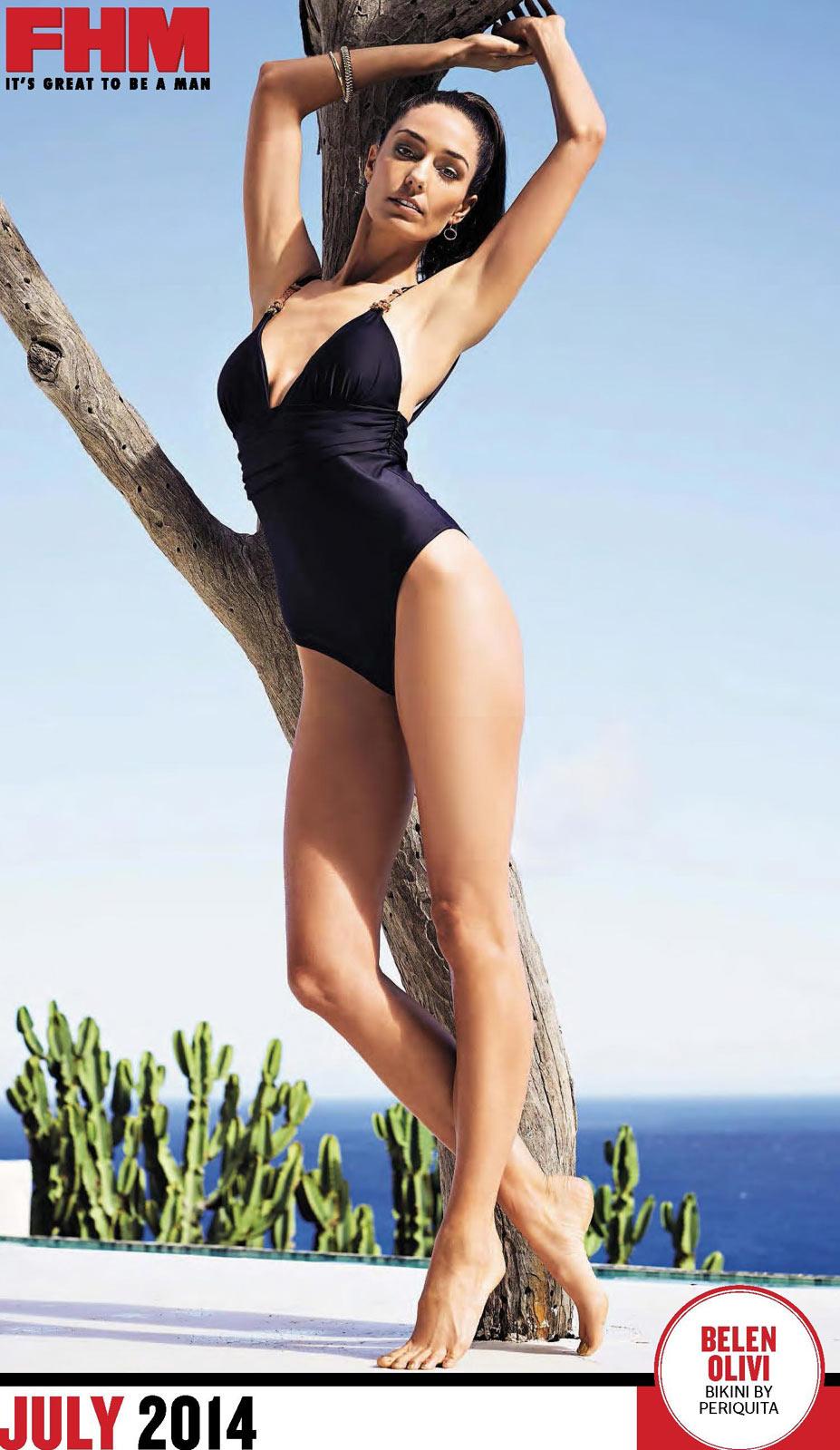 Сексуальные девушки в календаре журнала FHM South Africa 2014 - Belen Olivi