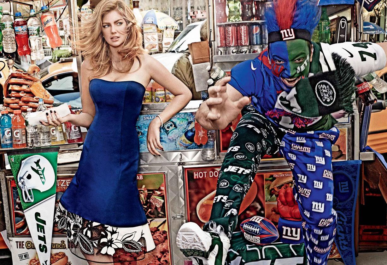Супербоул-вечеринка в Нью-Йорке - Кейт Аптон / Kate Upton by Mario Testino in Vogue US february 2014
