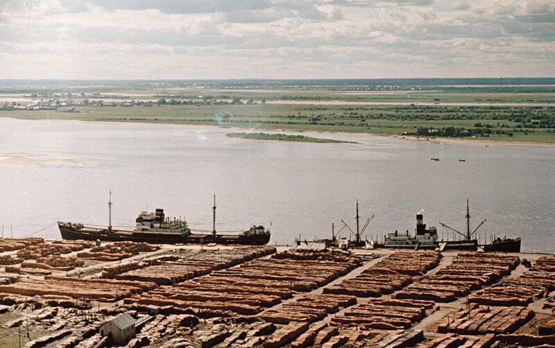 Архангельск. Биржа лесозавода (конец 1950-х гг.) 2 1000.jpg