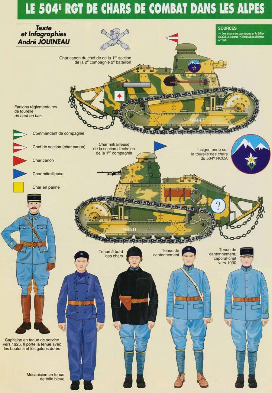 Военнослужащие и бронетехника 504-го альпийского танкового полка Французской армии