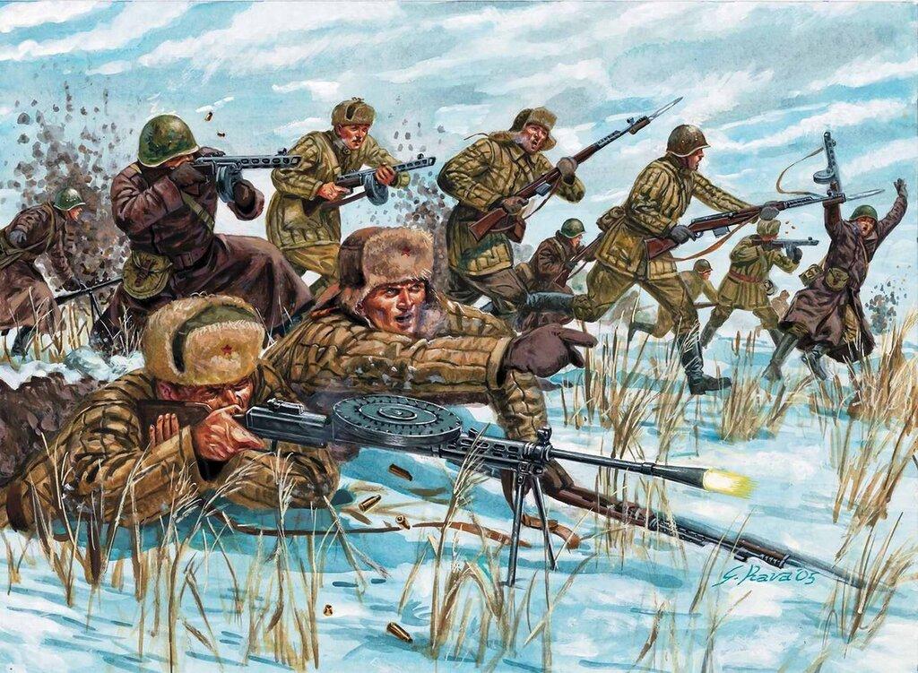 Советские солдаты идут в атаку (Giuseppe Rava)