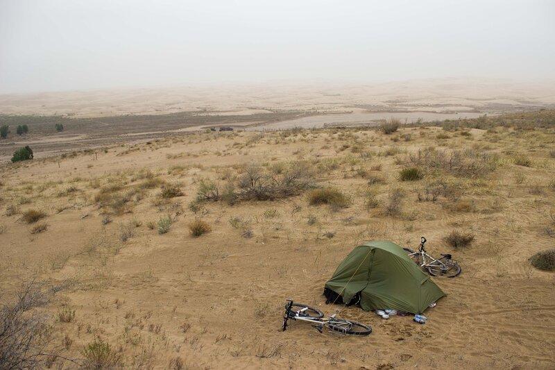 палатка над пустыней
