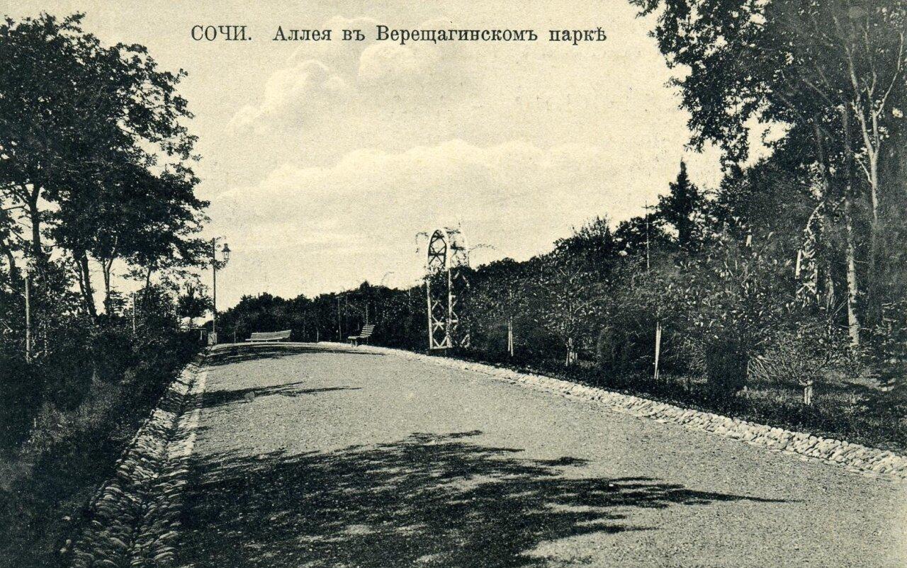 Аллея в Верещагинском парке