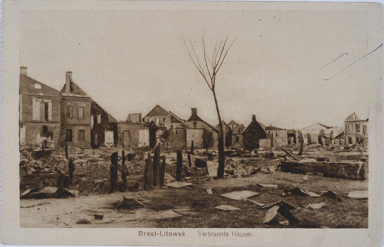 Разрушенные во время боев здания