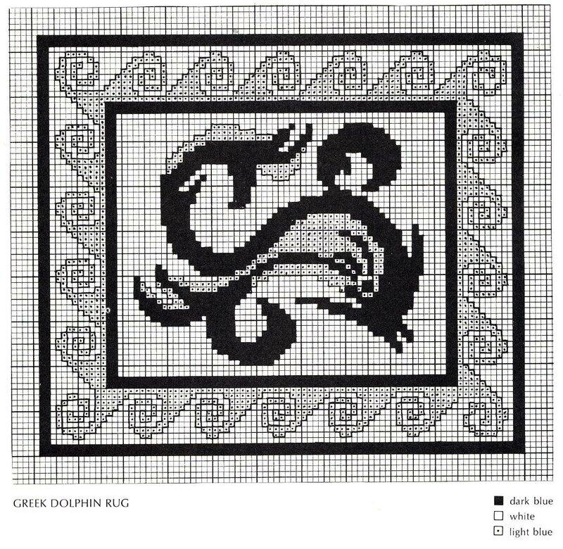 Вышивка ковра крестом схемы 450
