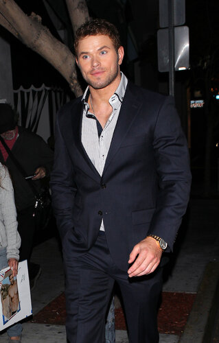 Kellan Lutz seen leaving Palihouse restaurant in Los Angeles