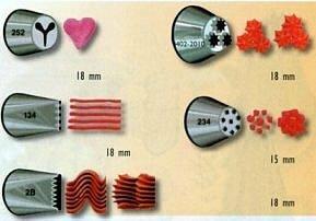 украшение кондитерских изделий с помощью кондитерских насадок