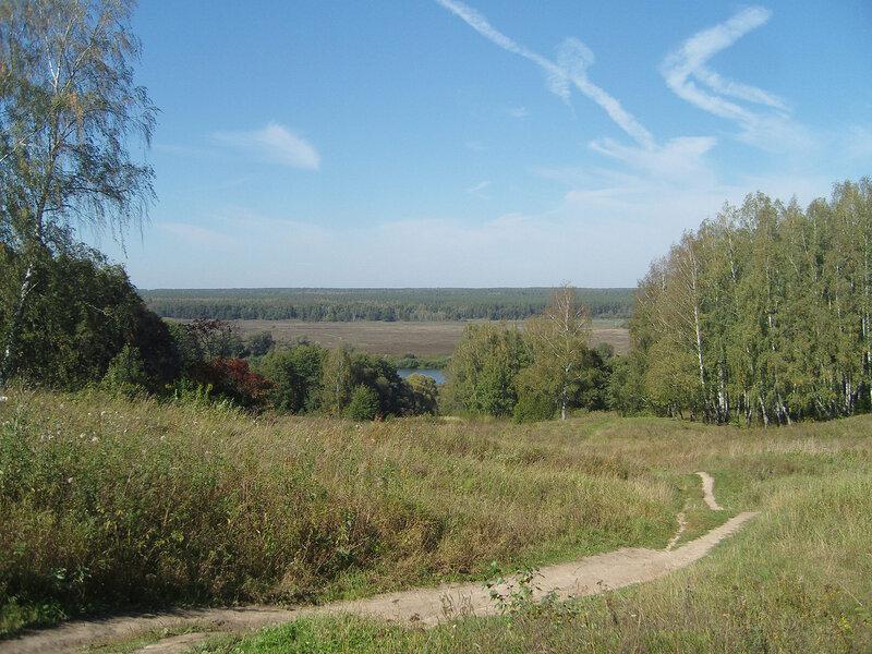 вид со смотровой на Приокско-Террасный заповедник на том берегу