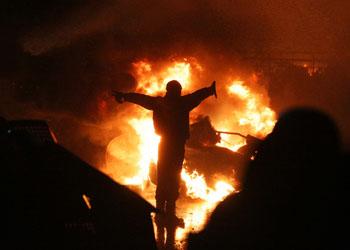 Киев готовится к очередной ночи протестов