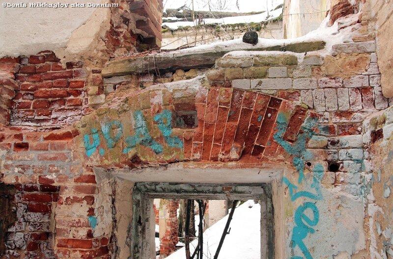 Развалины Голицынской больницы, окрестности Гребнево.