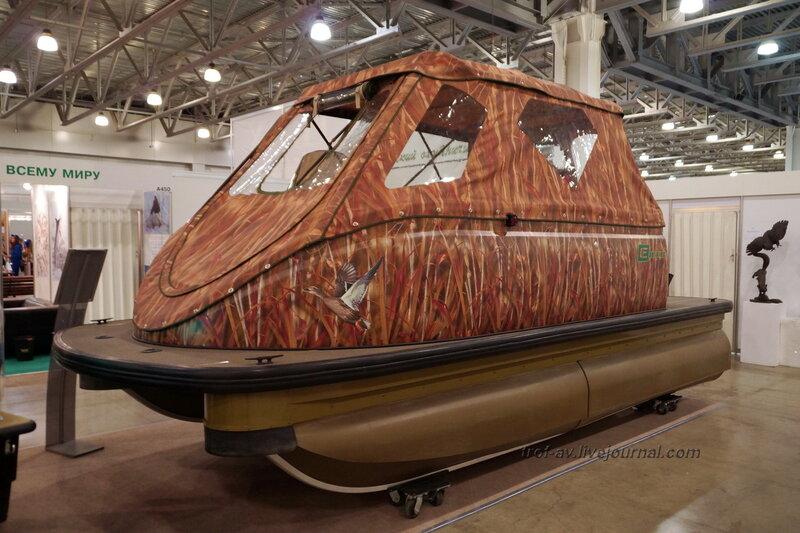 """Катамаран """"Eiger"""", выставка """"Охота и рыбалка 2014"""", Москва"""