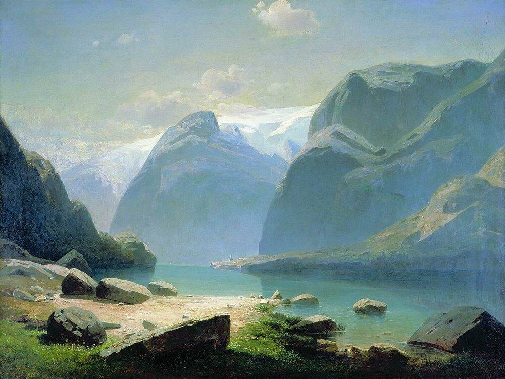 Озеро в горах Швейцарии. 1866.jpg