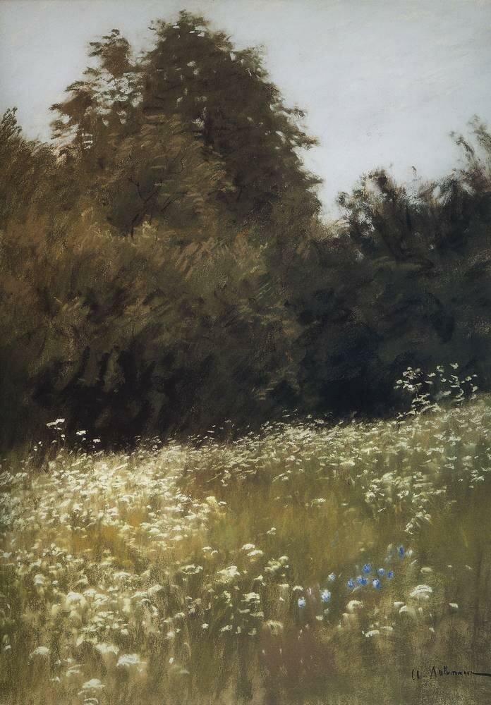 Луг на опушке леса. 1898.jpg