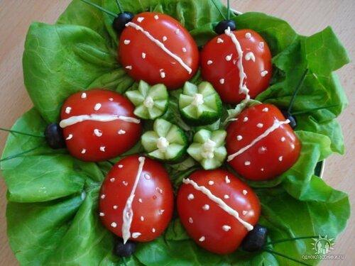 Божьи коровки из помидоров - варианты приготовления и использования в разных блюдах