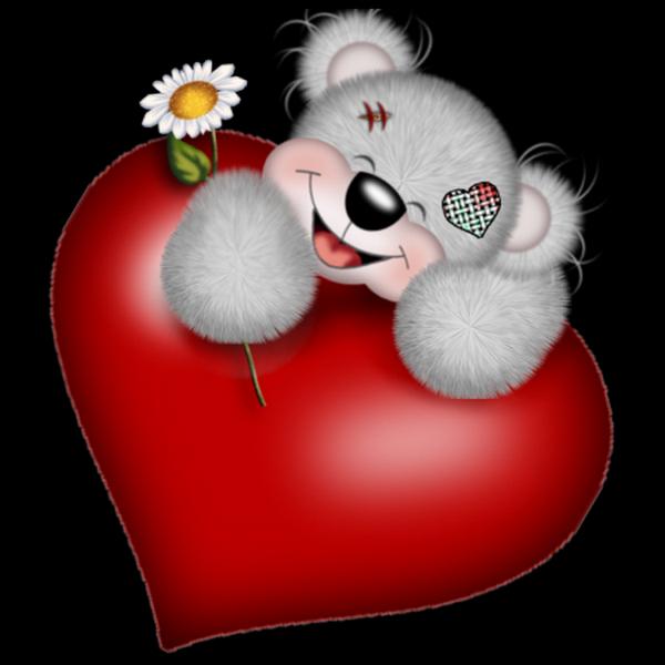 Картинки мишек с сердечками прикольные