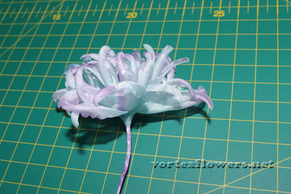 как сделать пион из ткани