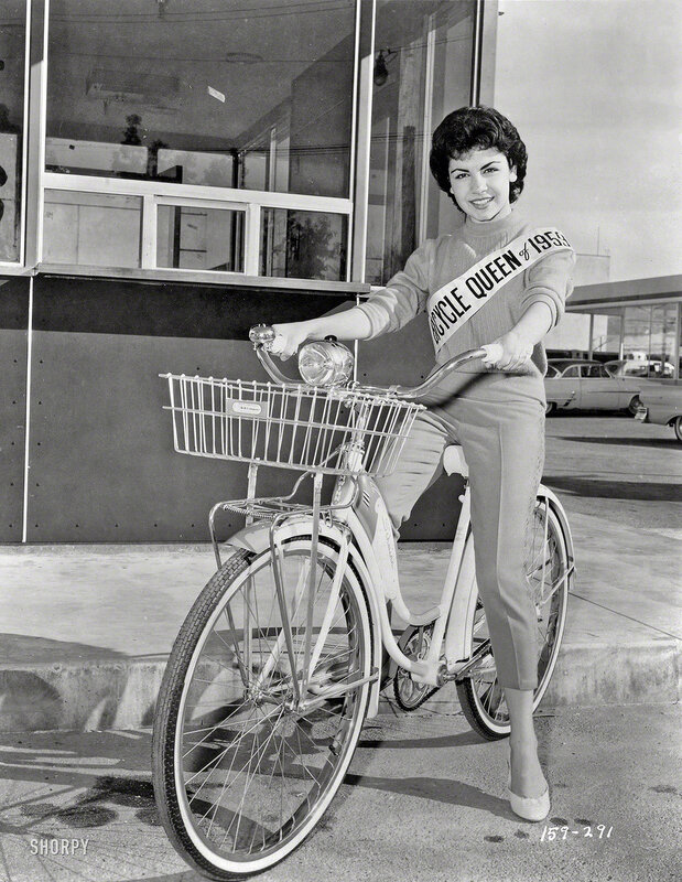 March 20, 1959. Sixteen-year-old actress Annette Funicello, Bicycle Queen of 1959