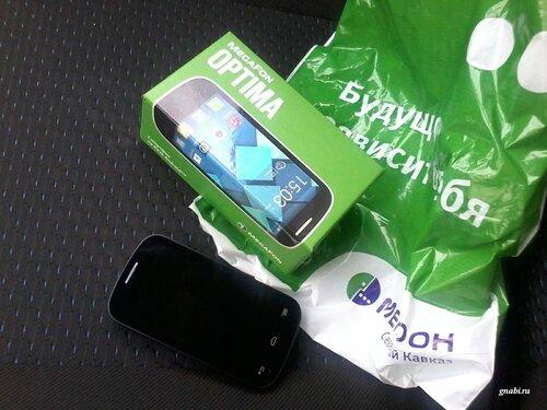 Коробка телефона Megafon Optima