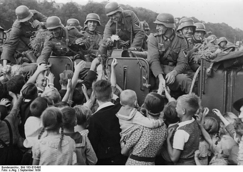 Dirschau, BegrьЯung deutscher Soldaten