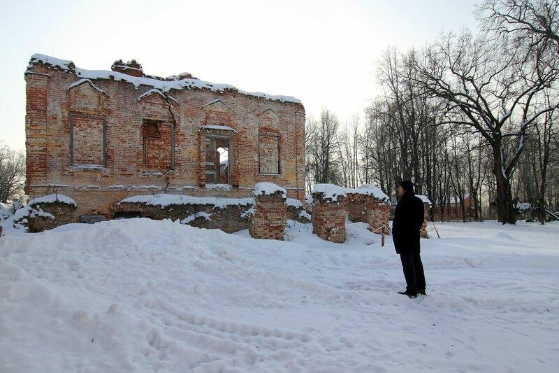 усадьба Ольгово, руины главного дома