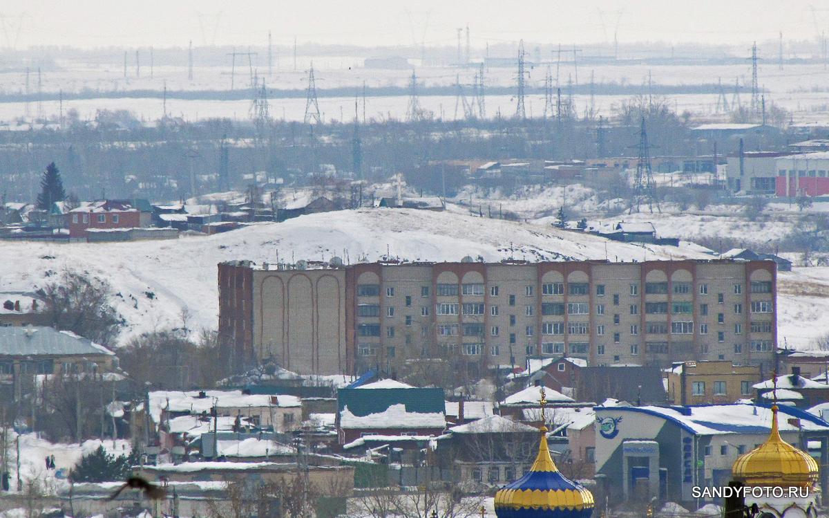 Вид на город Троицк с горы Жиркомбината