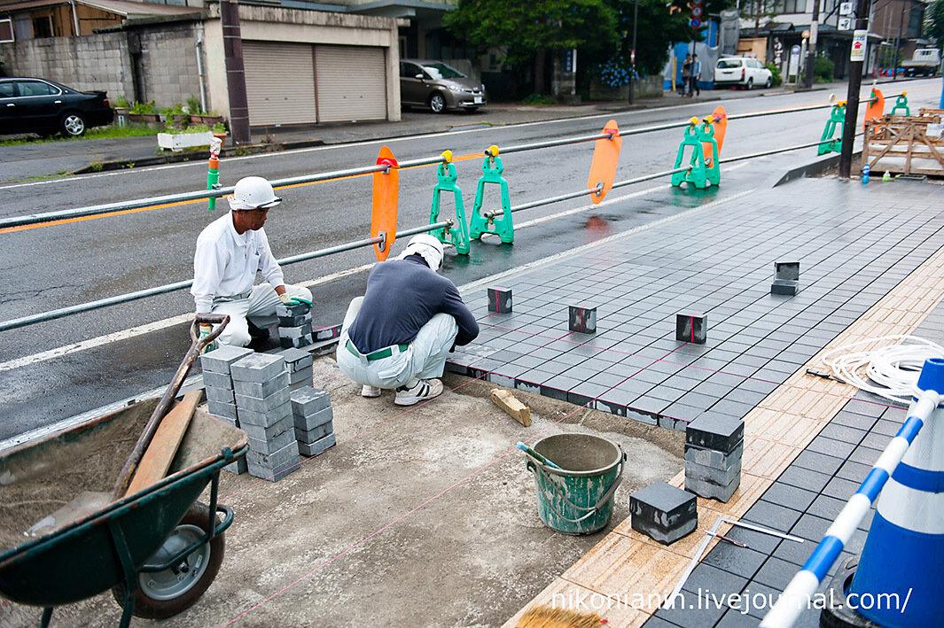 Так кладут плитку в Японии
